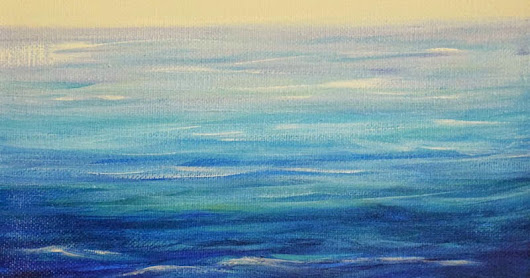 "Original Contemporary Seascape Painting ""Passion to Be Inspired"" by Contemporary International Seascape Artist Arrachme"