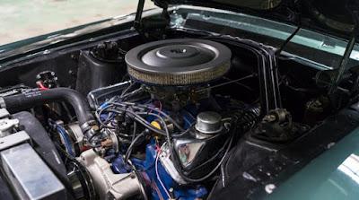 1968 Green Mustang Bullit Fastback Engine 02