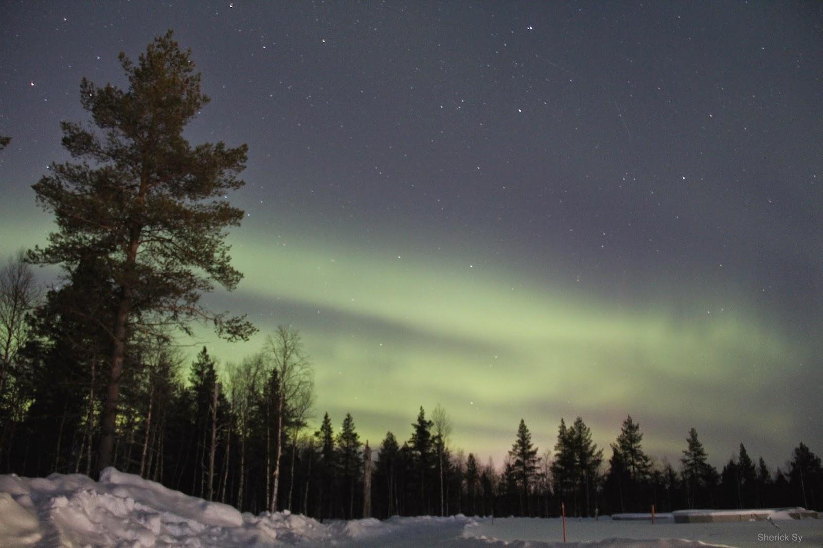 Northern Lights, Glass Igloo, Kakslauttanen, Finland