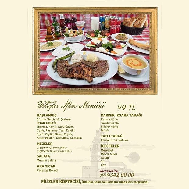 filizler üsküdar iftar menüsü üsküdar iftar mekanları üsküdar iftar mekanları menüleri