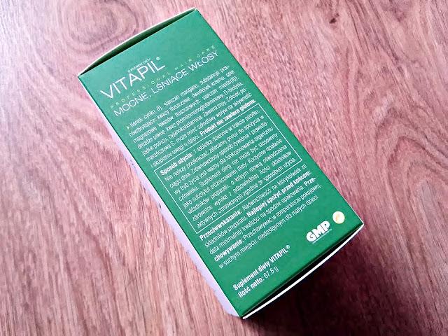 Vitapil, biotyna + bambus - mocne, lśniące włosy, opis opakowania