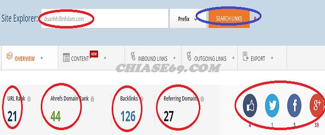 Ahrefs.com công cụ phân tích website trong SEO