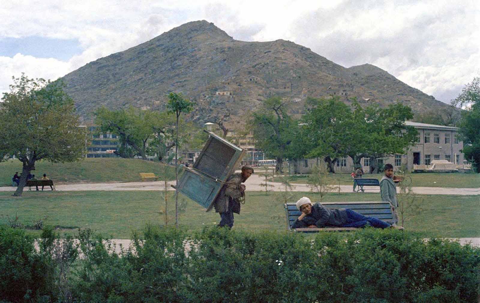 Actividad en un parque de la ciudad de Kabul, el 28 de mayo de 1968.