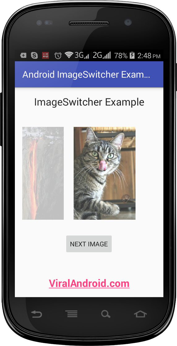 Image Switcher Example: How to Display Images Using ImageSwitcher in Android App