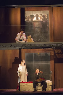 Jake Arditti, Paula Sides, Helen Sherman in Coronation of Poppea, photograph Richard Hubert Smith