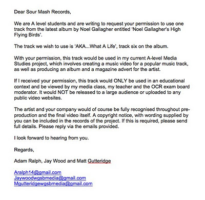 Jay Wood A2 Media Copyright Permission Letter