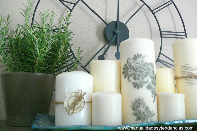 Cómo decorar velas caseras