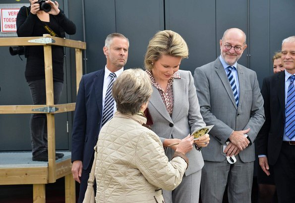 Queen Mathilde at Antwerp University, Jusuf Kalla and his wife, Princess Astrid. Europalia Arts Festival 2017