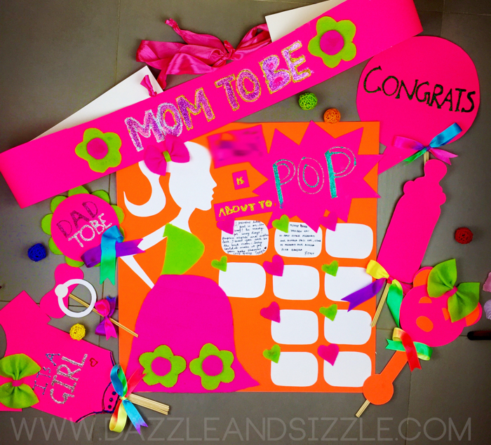 Dazzle And Sizzle Diy Baby Shower Ideas Sash Props And Gifts