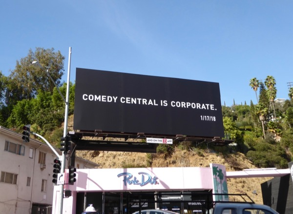 Comedy Central is Corporate billboard