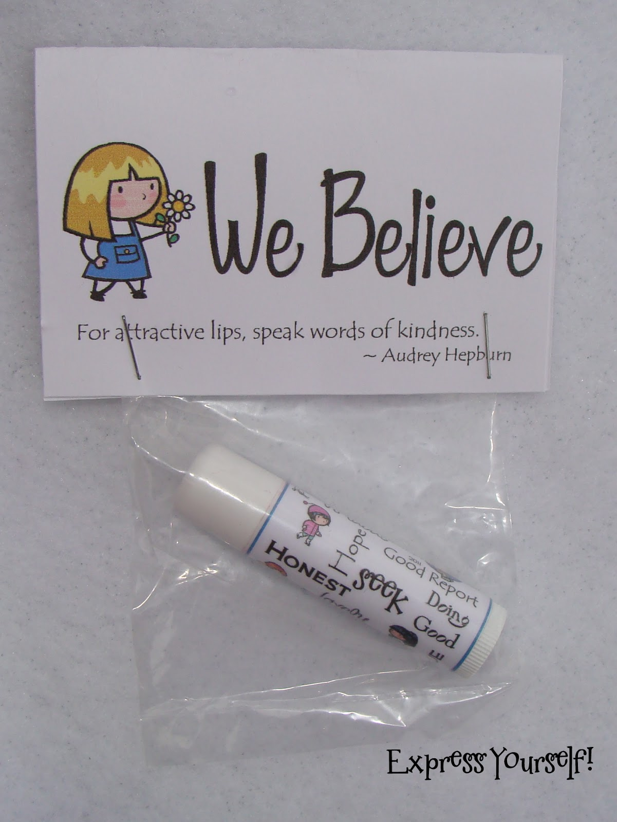 Page Toppers for We Believe Chap Stick