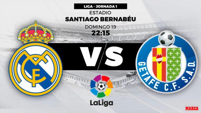 Horario y dónde ver: Real Madrid vs. Getafe