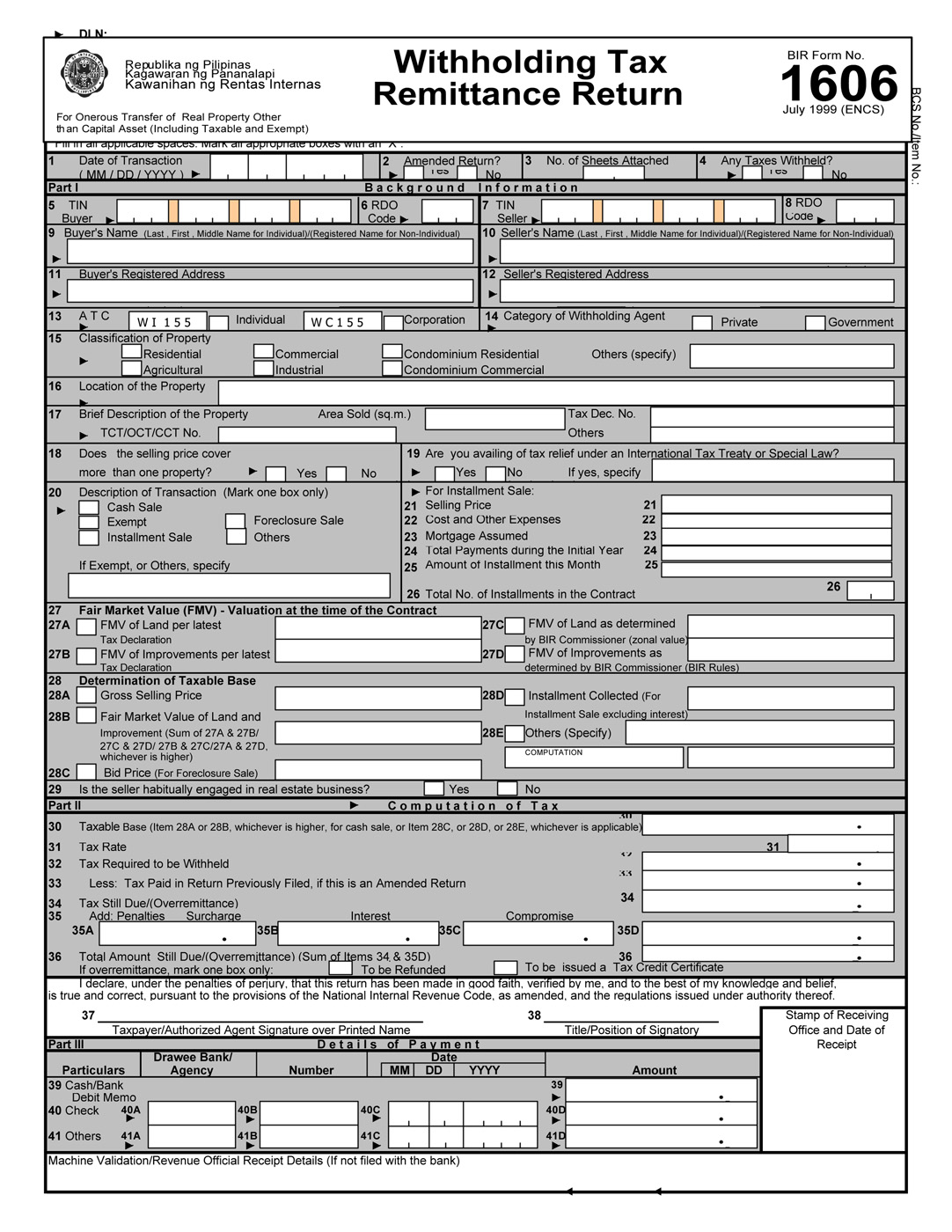 income tax return application form