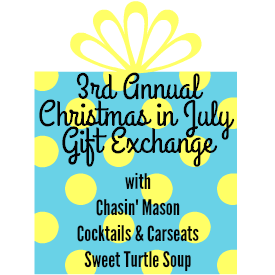 Christmas In July Gift Exchange Ideas.Chasin Mason Christmas In July The Goodies