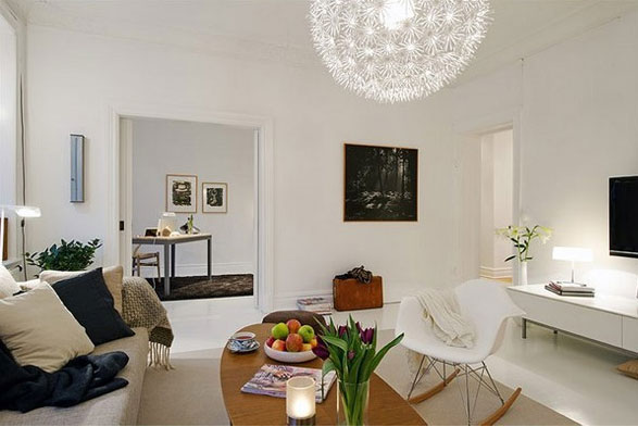 Noir blanc un style for Deco appartement ikea