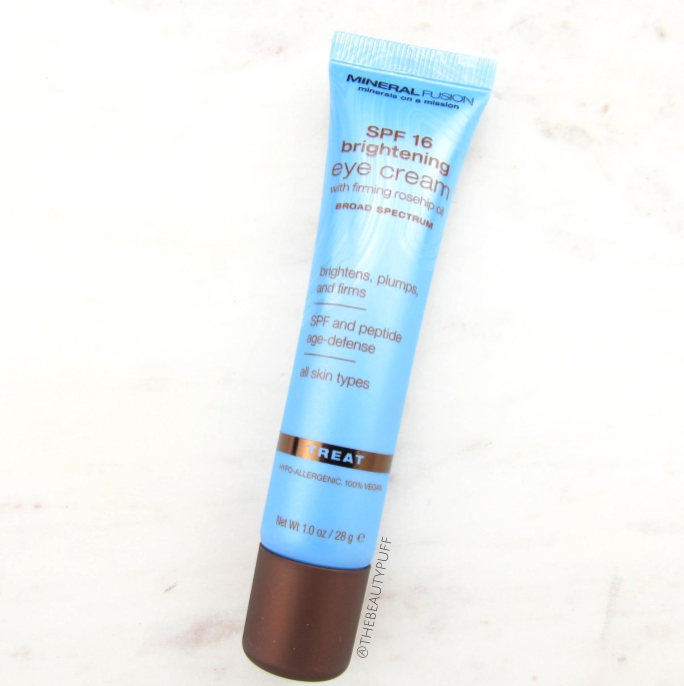 mineral fusion brightening eye cream | the beauty puff