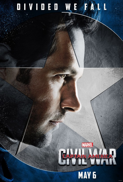 Paul Rudd Captain America Civil War poster