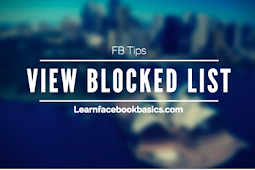 How do I view My Blocked List on Facebook | Unblock Friends