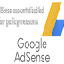policy and reasons your google adsense account disabled