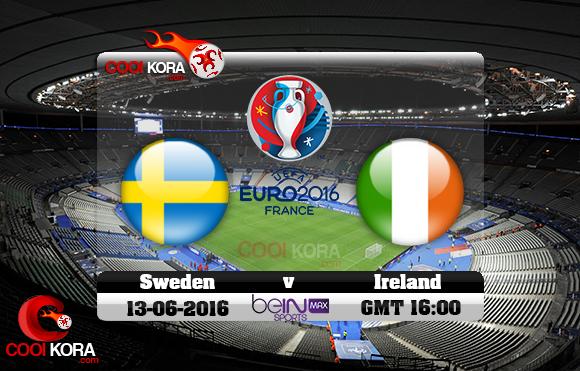 مشاهدة مباراة السويد وإيرلندا اليوم 13-6-2016 بي أن ماكس يورو 2016