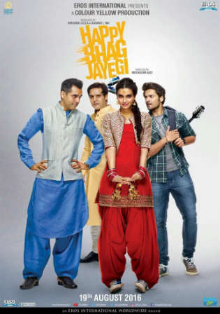 Happy Bhag Jayegi 2016 HDRip 900MB Full Hindi Movie Download 720p Watch Online Free bolly4u