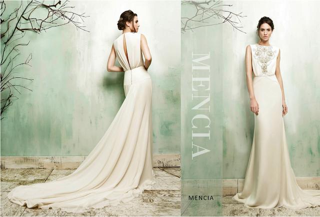 Vestido bonito y sencillo con apliques vintage