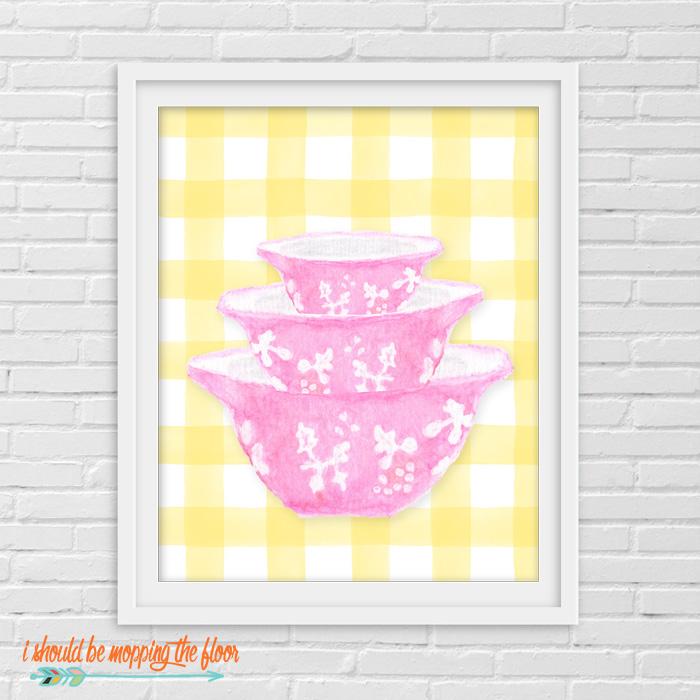 Pink Pyrex Printables