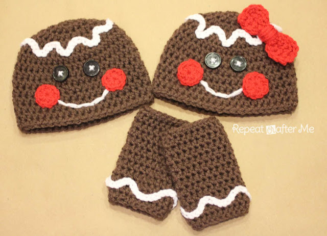 Repeat Crafter Me | FREE Gingerbread Pattern