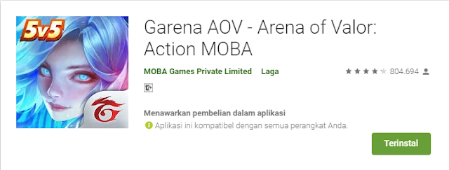 Game Strategi Moba Android Terbaik Arena of Valor