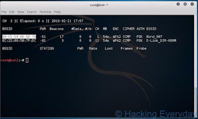 REAVER : Hack Wifi WPA2-PSK dengan Linux bssid wifi