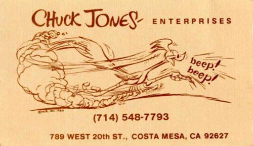 For Warner Bros. Business Card