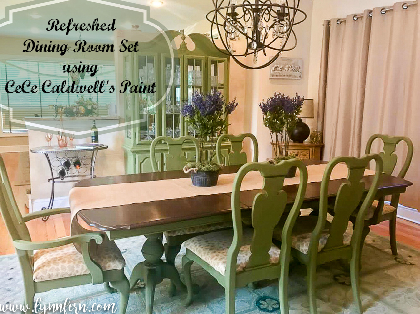 cece caldwell's grand prairie sage dining room set - lynn fern