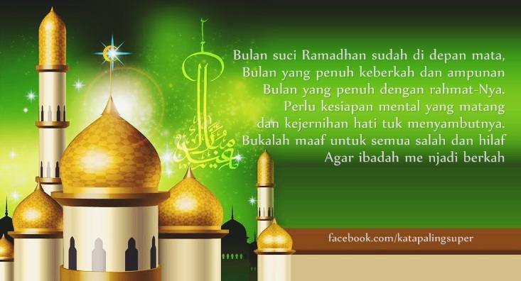 kata2 ucapan menyambut bulan puasa ramadhan