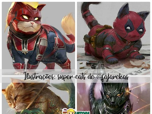 Ilustrações: Catvengers e Justice Cats por Fajarekas