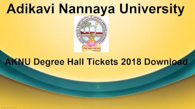 Manabadi AKNU Degree Hall Tickets 2018 Download, Schools9 AKNU UG Hall Tickets 2018