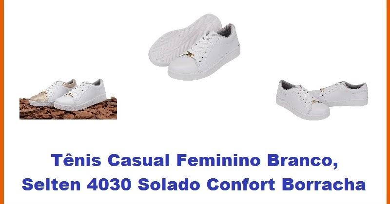 ebcafbcd859 Tênis Casual Feminino Branco