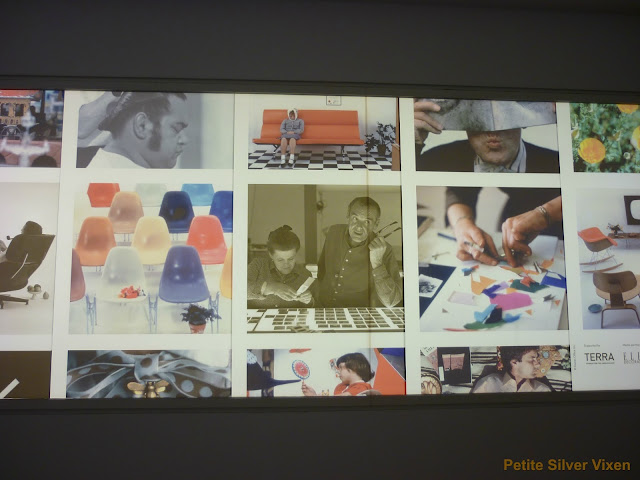Exhibition sign of The World of Charles and Ray Eames at the Barbican | Petite Silver Vixen