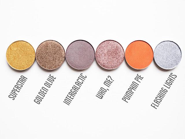 Coloured Raine Eyeshadow Swatches