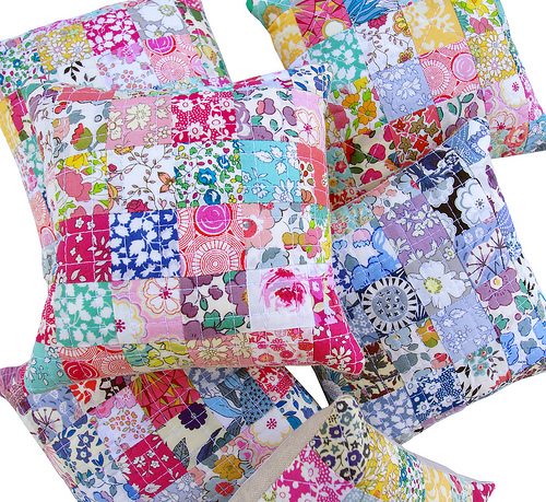 Red Pepper Quilts Liberty Tana Lawn Pincushions