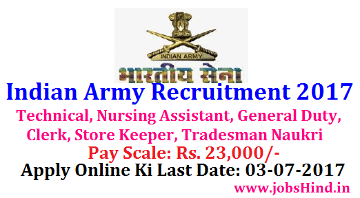 Indian Army Recruitment 2017 Mein Kaise Kare Clerk, Store Keeper Jobs Apply         |          Jobs Hind