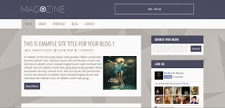 Magazine Free Blogger Templates