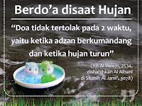 #Hadits #Motivasi - berdo'a disaat hujan