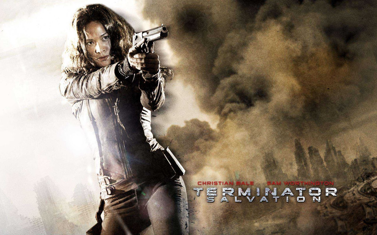Terminator Salvation Celebrities Movies And Games Moon Bloodgood Terminator