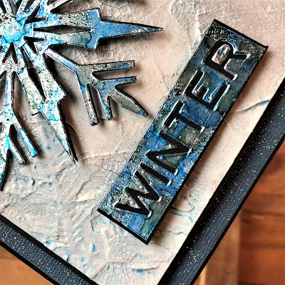 Mixed Media Techniques Tutorial by Sara Emily Barker for The Funkie Junkie Boutique https://frillyandfunkie.blogspot.com/2019/01/saturday-showcase-easy-mixed-media.html Tim Holtz Sizzix Alterations Ice Flake 21
