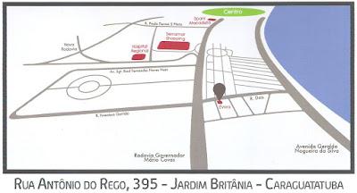 Mapa de Localização - Évora Caraguatatuba