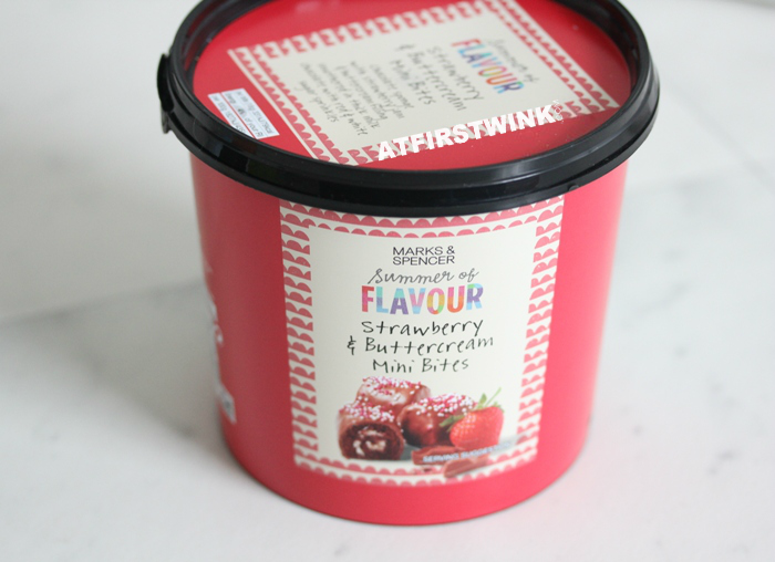 Marks & Spencer Strawberry & Buttercream Mini Bites bucket