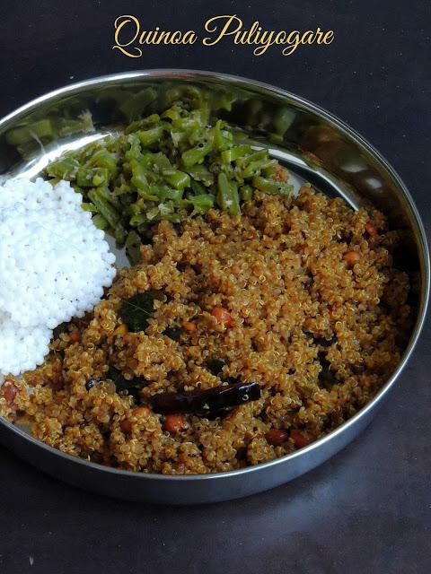 Tamarind Quinoa, Quinoa Puliyogare
