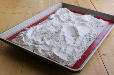 flour baked to make it safe for edible cookie dough