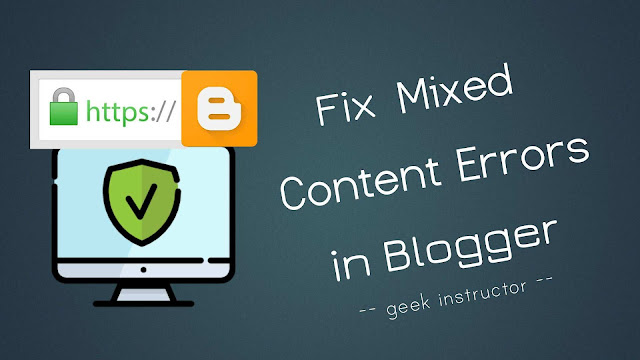 Fix mixed content errors in Blogger