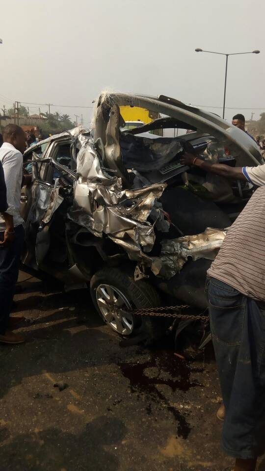 Dangote truck causes major accident on Kara Bridge, Lagos